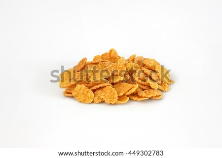 corn flakes in a pile isolated - stock photo