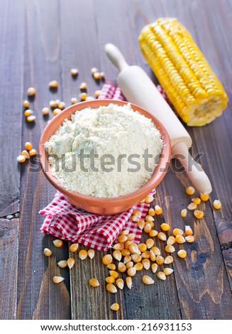 corn flour - stock photo