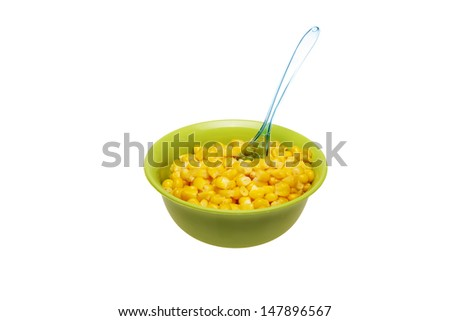 corn in cup isolated  - stock photo