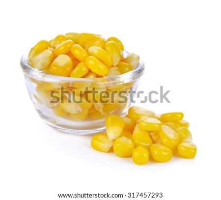 corn isolated on white background - stock photo