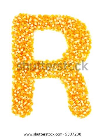 Corn R - stock photo