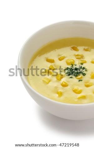 Corn Soup - stock photo