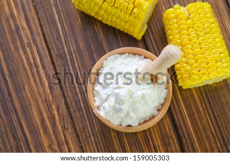 corn starch - stock photo
