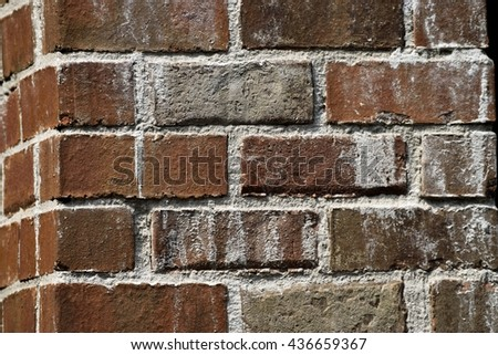 Corner brick wall background - stock photo