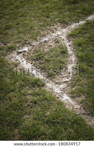 Corner local football pitch - stock photo