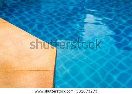 Corner of swimming pool - stock photo