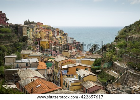 Corniglia Cityscape - stock photo