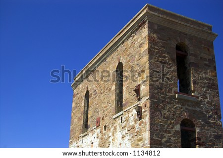 Cornish Copper Mine Building - stock photo
