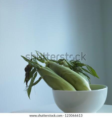 Corns in a bowl - stock photo