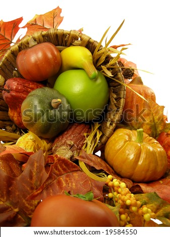 Cornucopia: Thanksgiving decoration - stock photo