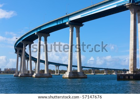Coronado Bridge in San Diego - stock photo