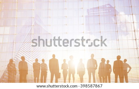 Corporate Business Communication Strategy Concept - stock photo