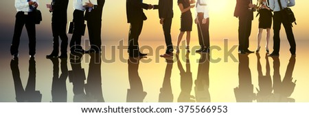 Corporate Business People Discussion Communication Concept - stock photo
