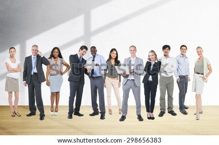 Corporate Business Team Communication Connection Concept - stock photo