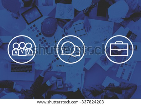 Corporate Business Teamwork Communication Collaboration Concept - stock photo