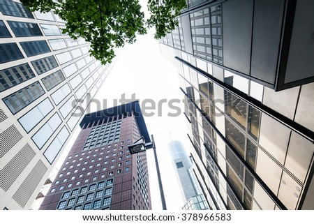 corporate city - stock photo