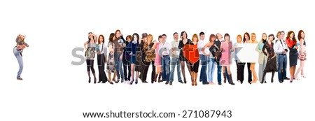 Corporate Culture Isolated over White  - stock photo
