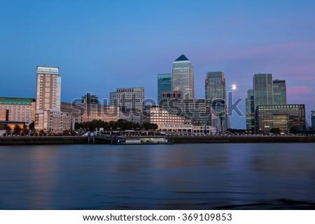 Corporate  & Finance -Canary Wharf London - stock photo