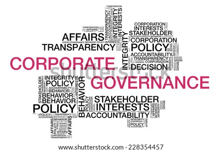 Corporate Governance wordcloud - stock photo