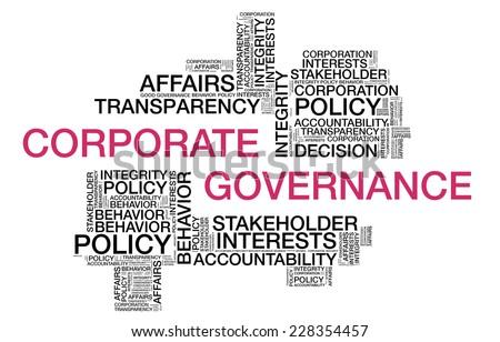 Corporate Governance wordcloud - stock photo
