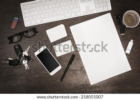 corporate identity design mockup - stock photo