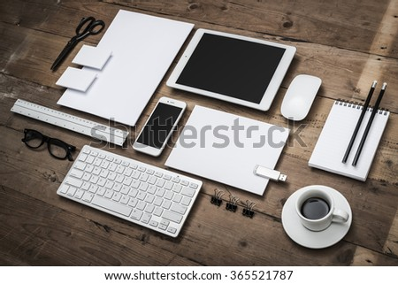 corporate identity template - stock photo