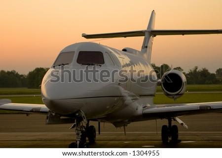Corporate Jet 3 - stock photo
