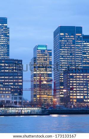 Corporate office building, Canary Wharf, London, England, UK  - stock photo