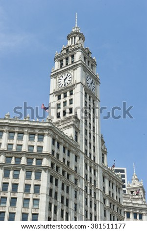 Corporate Skyscraper in Chicago - stock photo