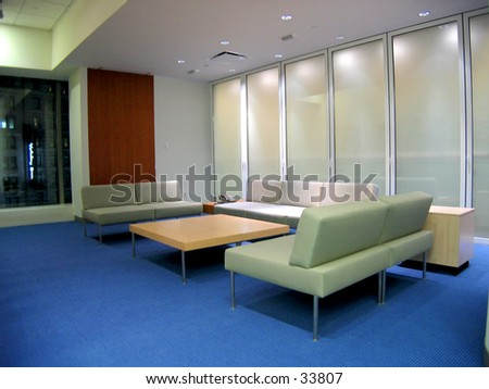 corporate waiting room - stock photo
