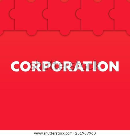 CORPORATION - stock photo