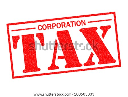 CORPORATION TAX red Rubber Stamp over a white background. - stock photo