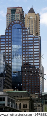 Corporative Building in Chicago Downtown - stock photo