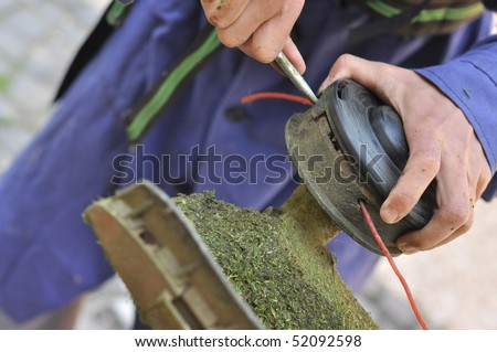 correct brush cutter - stock photo