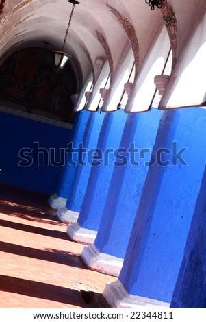Corridor in Convento de Santa Catalina - stock photo