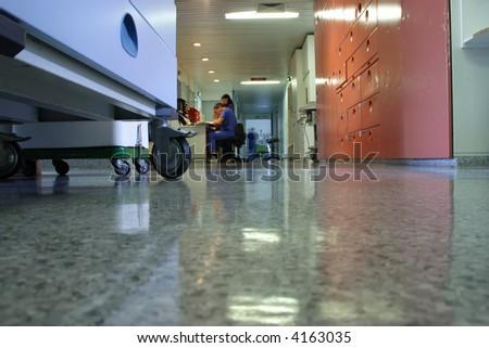 corridor in hospital - stock photo