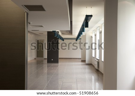 corridor in office building - stock photo