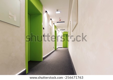 Corridor interior - stock photo
