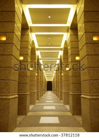 Corridor of building - stock photo
