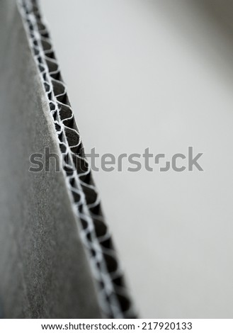 corrugated cardboard - stock photo