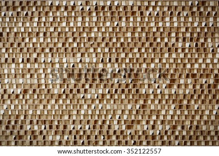 corrugated cardboard, brown in a pattern - stock photo