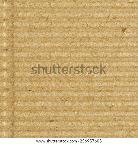 Corrugated cardboard goffer paper texture rough old recycled goffered textured blank empty grunge copy space background aged grungy macro closeup taupe brown tan yellow beige detail vintage pattern - stock photo