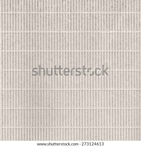 Corrugated cardboard texture, striped paper - stock photo