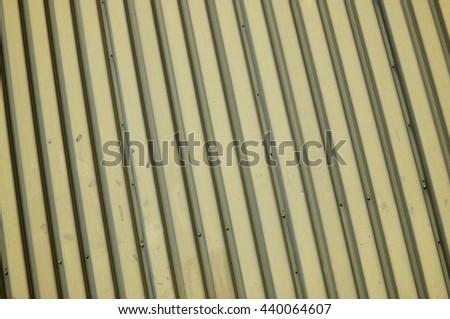 Corrugated Metal - stock photo