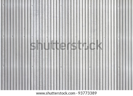 Corrugated metal texture surface - stock photo