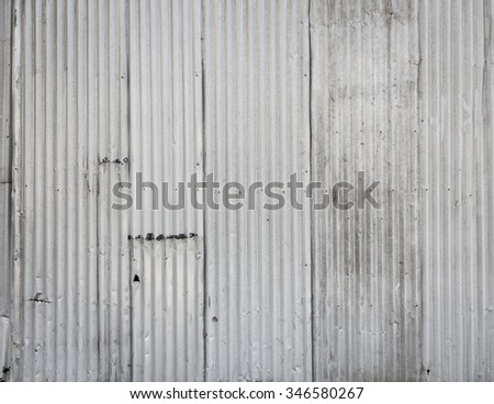 Corrugated metal wall background texture - stock photo
