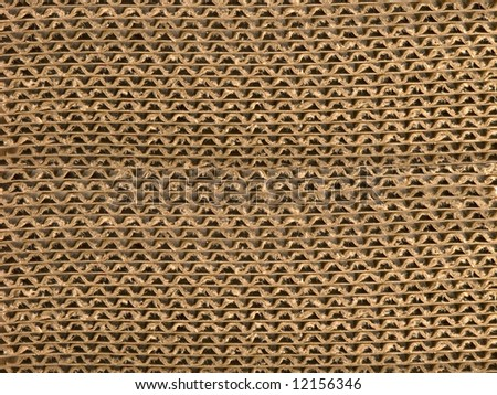 Corrugated paper background. - stock photo