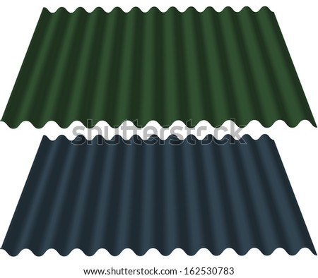 Corrugated Roofing Sheets - stock photo