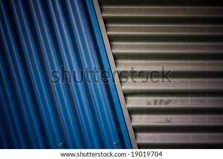corrugated steel texture - stock photo