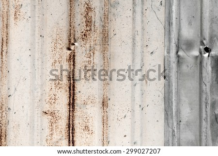 Corrugated zinc , iron metal texture - stock photo